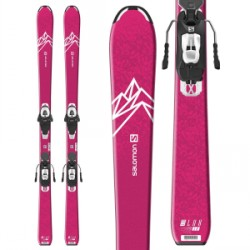 Kid's Salomon QST Lux Jr M Skis L6 GW Bindings Girls 2020
