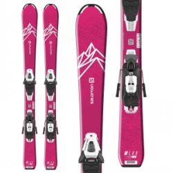 Kid's Salomon QST Lux Jr S Skis C5 GW Bindings Little Girls 2020