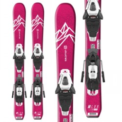 Kid's Salomon QST Lux Jr XS Skis C5 GW Bindings Little Girls 2020
