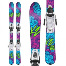 Kid's K2 Luv Bug Skis Marker FDT 4.5 Bindings Little Girls 2019
