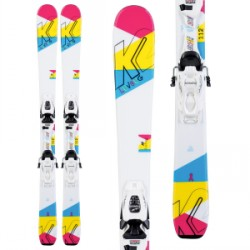 Kid's K2 Luv Bug Skis FDT 4.5 Bindings Little Girls 2020