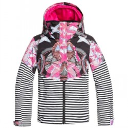 Kid's Roxy Frozen Flow Jacket Big Girls in Pink, Large