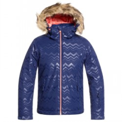 Kid's Roxy American Pie Solid Jacket Big Girls in Blue, Small