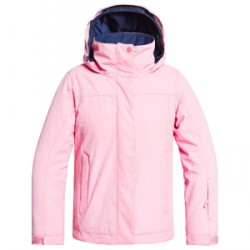 Kid's Roxy Jetty Solid Jacket Big Girls in Pink, Small