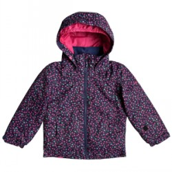 Kid's Roxy Mini Jetty Jacket Little Girls in Blue